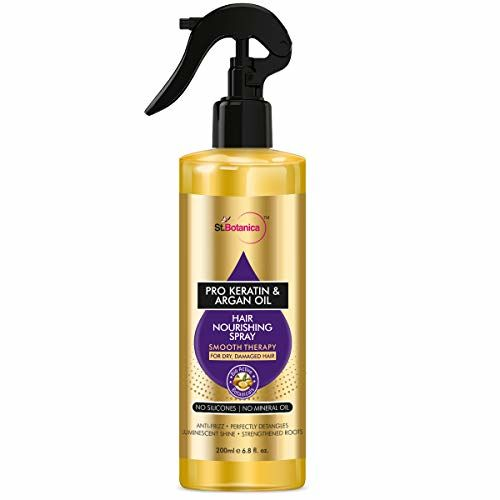 StBotanica Pro Keratin & Argan Oil Hair Nourishing Smooth Therapy Spray, 200ml - For Dry, Damaged Hair, No Silicone or Mineral Oil