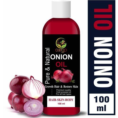 CARGO 100% Organics Onion Hair Oil for Hair Growth-100ML Hair Oil(100 ml)