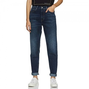 Levi's Navy Blue Cotton Tapered Jeans
