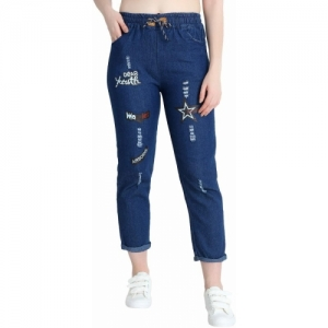 AE Fashion Blue Denim Solid Jogger Fit  Jeans
