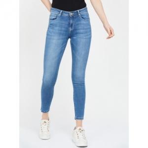 LEE COOPER Blue Cotton Solid Slim Fit Jeans