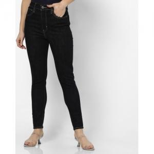 LEVIS Black Cotton Solid Skinny Fit Jeans