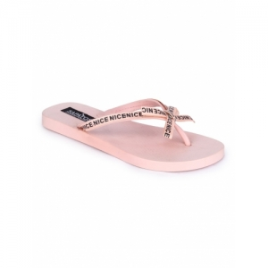 Sapatos pink Synthetic toe separator flip flop