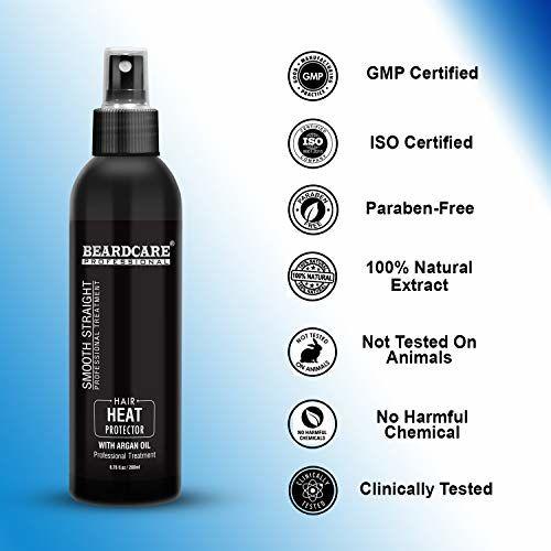 Beardcare Natural Hair Heat Protection Spray With Morroccan Argan oil 200ml