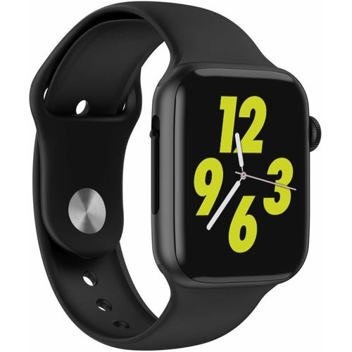 Mobirite Series5 W34 Smartwatch(Black Strap, 44mm)