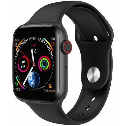 Shine Tech W34 Smartwatch(Black Strap, Free)