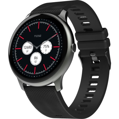 NoiseFit Evolve Smartwatch(Black Strap, Regular)