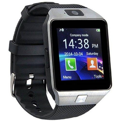 Apex APXDZ09 smart watch phone Smartwatch(Black Strap, Regular)
