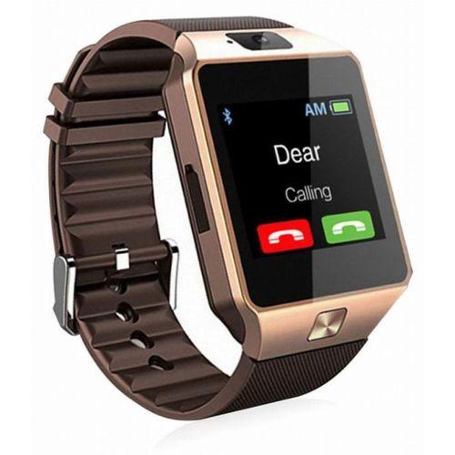 RJ MARLINS DZ09 SMART WATCH SMART LIFE Smartwatch(Brown Strap, MEDIUM)
