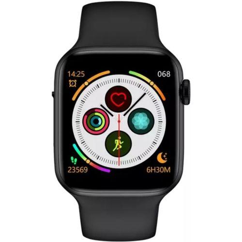 M tech w34 Smartwatch(Black Strap, M)