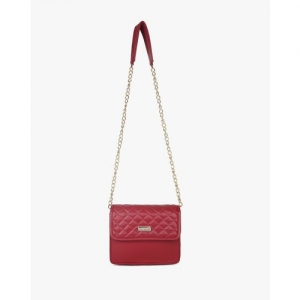 Berrypeckers Quilted Sling Bag with Metal Chain Strap