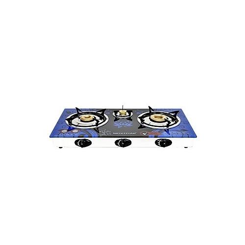 Surya Crystal Automatic 3 Burner Gas Stove Cooktop