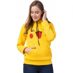 Funday Fashion Yellow Cotton Printed Full Sleeve Sweatshirt