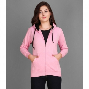 Christy World Pink Lycra Solid Full Sleeve Sports Jacket
