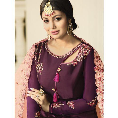 Vasu Saree floral embroidered semi-stitched suit