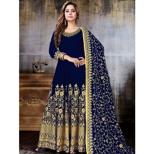 Shimeroo Fashion embroidered semi-stitched suit