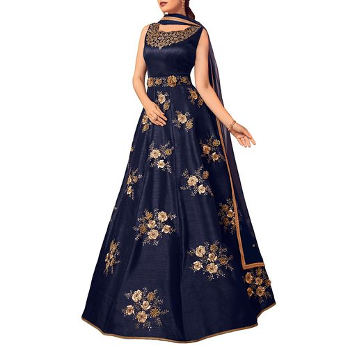Stylee Lifestyle embroidered unstitched anarkali suit
