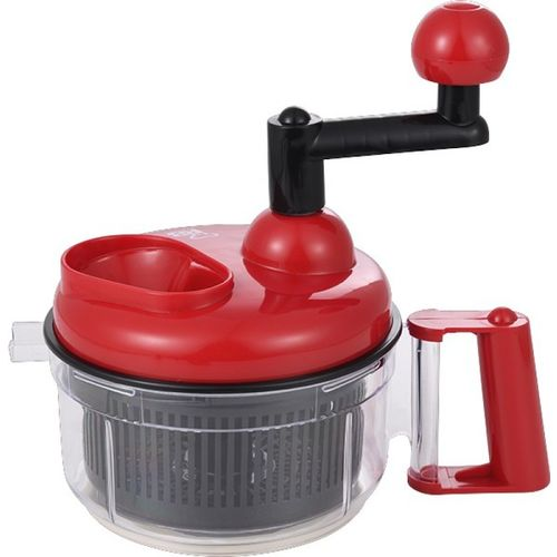Renberg Manual Vegetable & Fruit Chopper(Food Processor::Chopping Blade::Whip Blade::Slicing Platform3)
