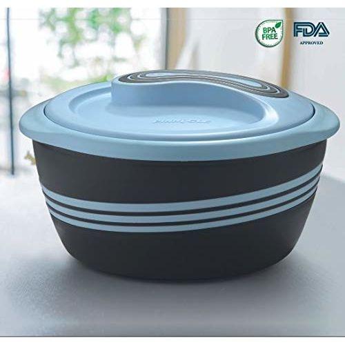 Pinnacle Palazio Matte Casseroles, Stainless Steel 304 Inner Body to Keep Food Hot (2000 ml, Pastel Blue)