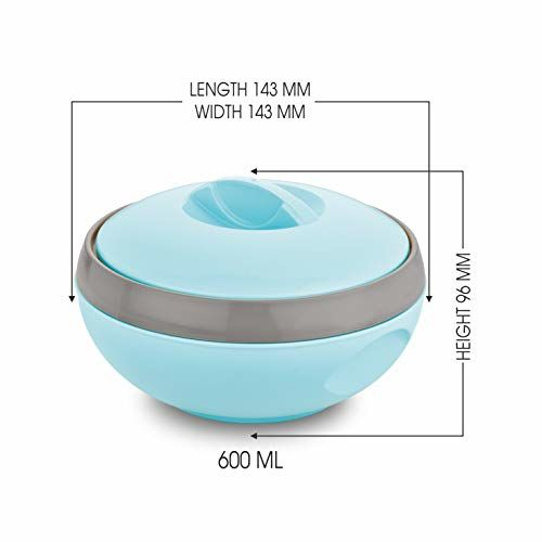 Asian Venus Plastic Casserole, 600ml, Blue