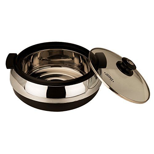 Jaypee Glasserol Set Black, Set of 3 Casserole (800+1200+1700 ml)