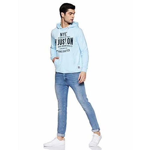 Amazon Brand - Symbol Men Sweatshirt (AW18MNSSW37_Bright Sky_S)