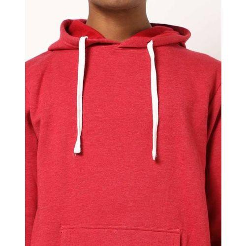 Campus Sutra Hooded Sweatshirt with Kangaroo Pockets