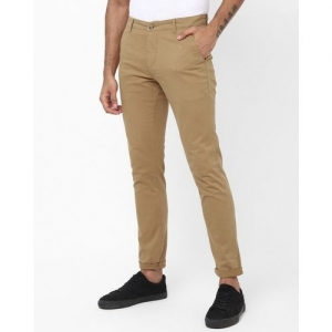 AJIO Flat-Front Tapered Chinos with Slip Pockets