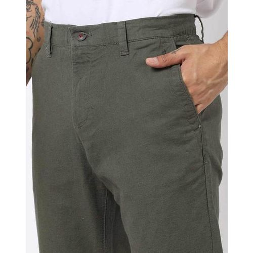 NETPLAY Tapered Fit Trousers with Insert Pockets