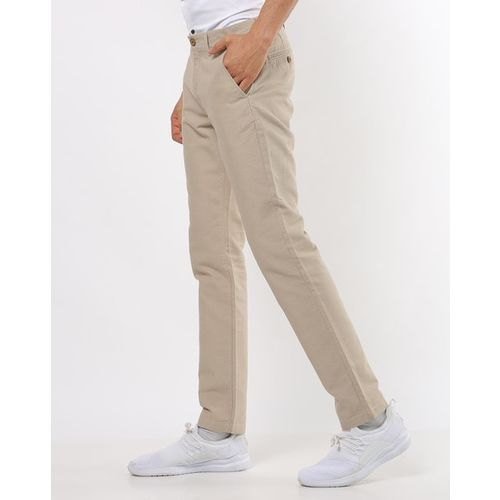 NETPLAY Slim Fit Chinos with Insert Pockets