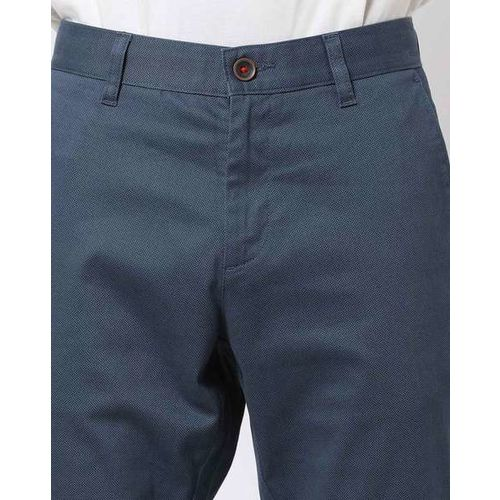 NETPLAY Flat-Front Slim Fit Trousers