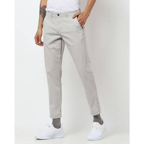 NETPLAY Flat-Front Mid-Rise Tapered Chinos