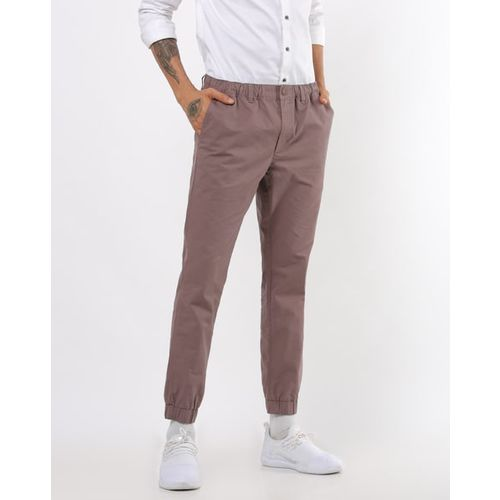 DNMX Flat-Front Joggers with Insert Pockets