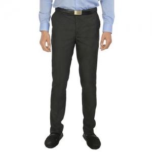 ZIDO black polyester formal trouser