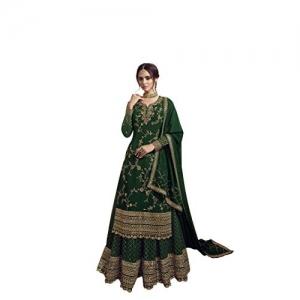 Rudraprayag Green Georgette Embroidery Anarkali Gown