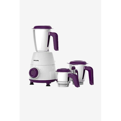 Philips Daily Collection HL7505/00 500W 3 Jars Mixer Grinder (White/Purple)