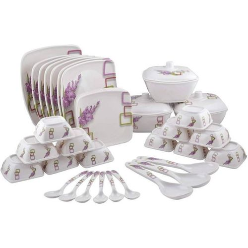 Maharaja Melamine Pack of 40 Melamin 210 Dinner Set(Microwave Safe)