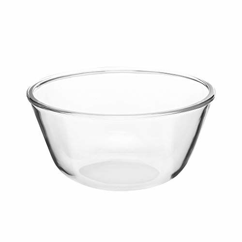 Cutting EDGE Borosilicate Round Glass Bowl Oven and Microwave Safe (1, 500ML)
