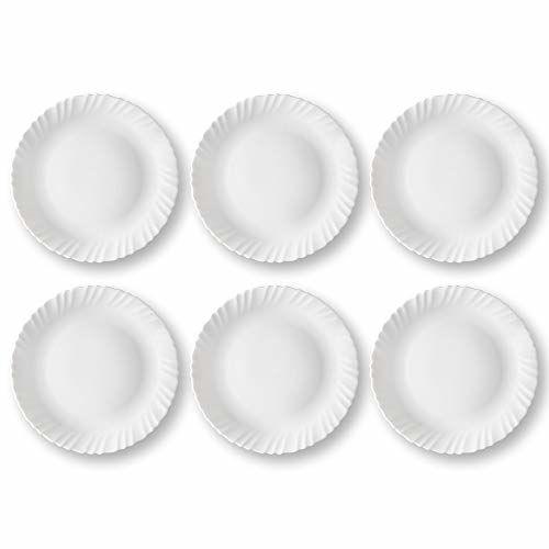 Larah By Borosil 11 inch Full Plate - Set of 6 - White