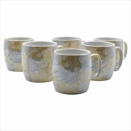 FARKRAFT Ceramic Tea and Coffee Cups (Multicolor, 5 Oz) - Set of 6