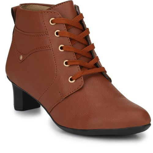 Neso Shearling Party Wear Boots For Women(Brown)