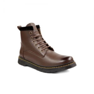 Bacca Bucci Brown Leather Lace Up Derby Boots