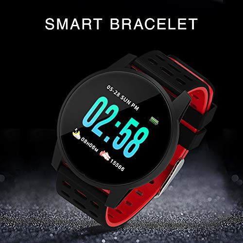 KKmoon-1 Smart Watch 1.3In IPS Screen Touch Fitness Tracker Watch IP67 Smart Bracelet with Heart Rate Activity Tracking Step Counter Calorie Counter Sleep