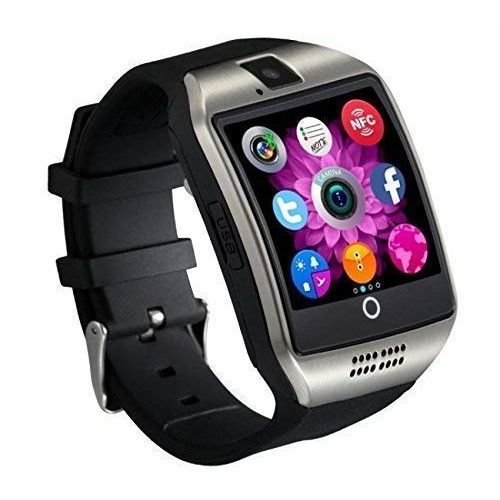 Crystal Digital Q18 Black Android Bluetooth Smart Watch All 2g, 3g,4g Phone with Camera and Sim Card Support