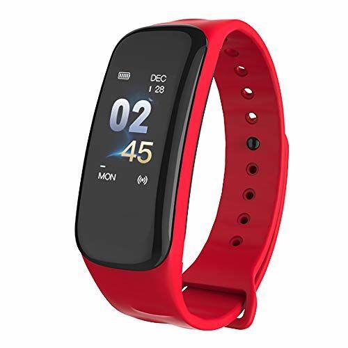 KKmoon-1 IP67 Smart Bracelet Women Men Fitness Tracker Watch with Heart Rate Blood Pressure Blood Oxygen Step Counter Calorie Counter Sleep Monitoring