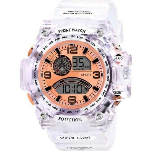 BRATON Multi-functional Full Screen Sports Digital Watch (Orange) - For Men & Boys Digital Watch - For Men & Women