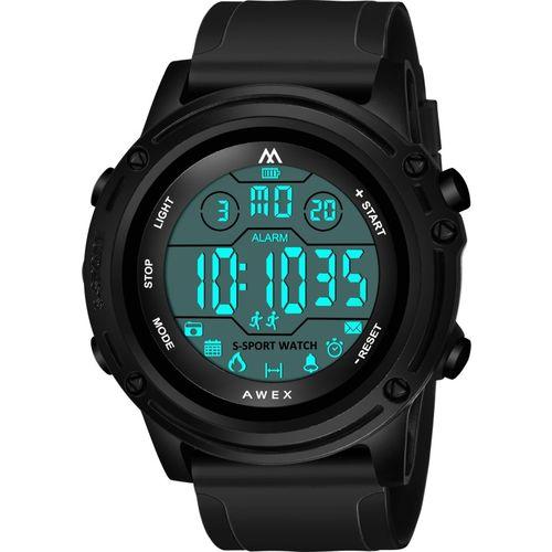 AWEX AW-1002 Matt Full Black Sports Wear Biker Digital New Collection Latest Men Watch Digital Watch - For Men