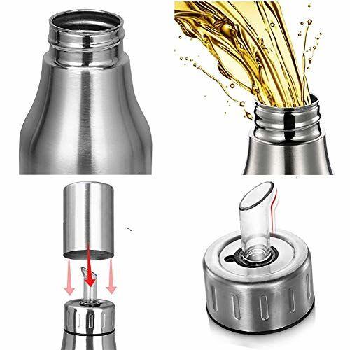 EAYIRA Olive Oil Dispenser Bottle Oil Pourer Dispensing Bottles Stainless Steel Olive Oil Dispenser Leakproof Kitchen Oil & Vinegar Cruet (1000 ML)