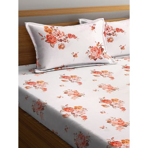 SWHF cotton double bedsheet with two pillow cover