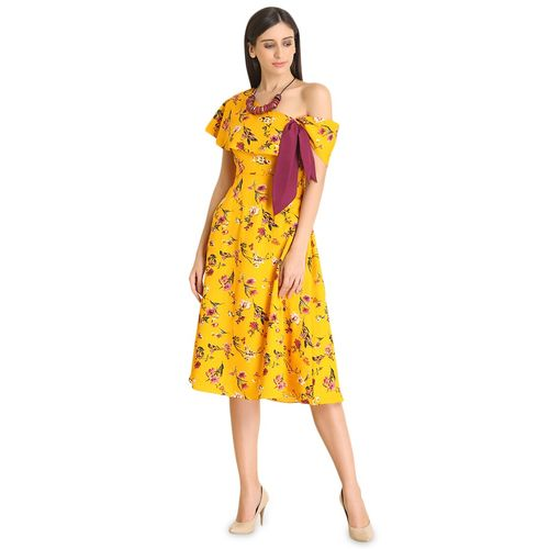 Raas tie up detail off shoulder dress